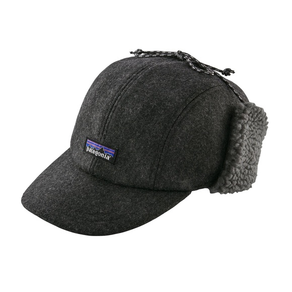 2a1b6fd81cc Patagonia Recycled Wool Ear Flap Cap - Forge Grey.  M 5c095bdda5d7c646b39167ef